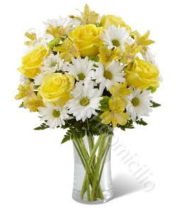 consegna-fiori-a-domicilio-bouquet-rose-gialle-margherite-bianche