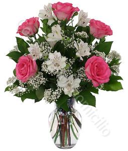 consegna-fiori-a-domicilio-bouquet-gigli-alstromeria-rose-rosa
