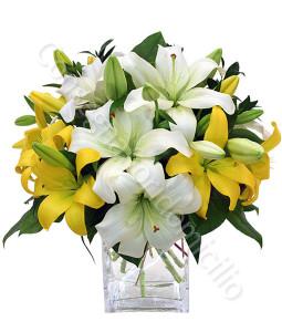 consegna-fiori-a-domicilio-bouquet-gigli-gialli-bianchi