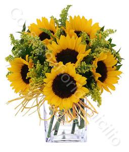 consegna-fiori-a-domicilio-bouquet-di-girasoli