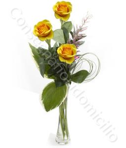 consegna-fiori-a-domicilio-tre-rose-gialle