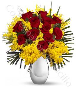 consegna-fiori-a-domicilio-12-rose-rosse-mimosa