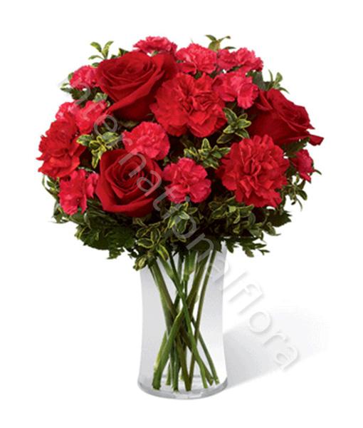 consegna-fiori-a-domicilio-bouqet-di-rose-garofani-rossi