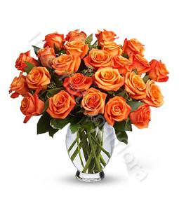 consegna-fiori-a-domicilio-bouquet-di-24-rose-arancio