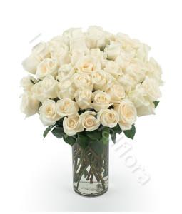 consegna-fiori-a-domicilio-bouquet-di-50-rose-bianche